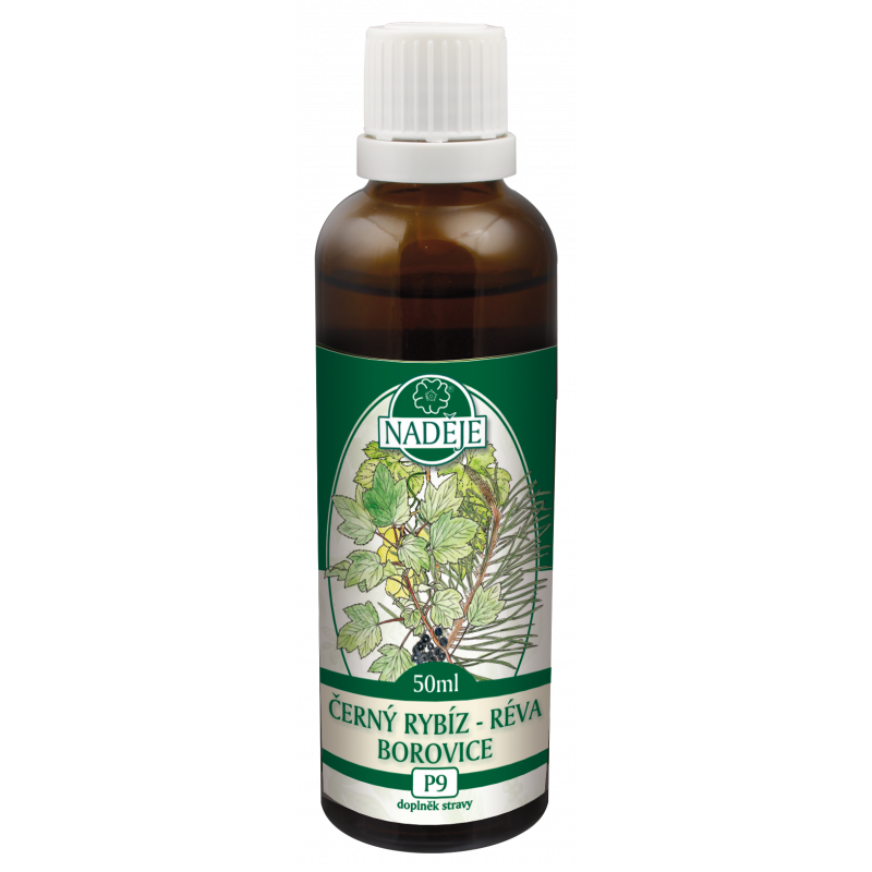 Levně Černý rybíz-borovice-vinná réva - tinktura z bylin