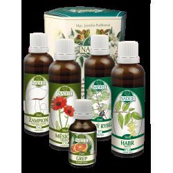 Doplněk z bylin pro péči o dýchací trakt
