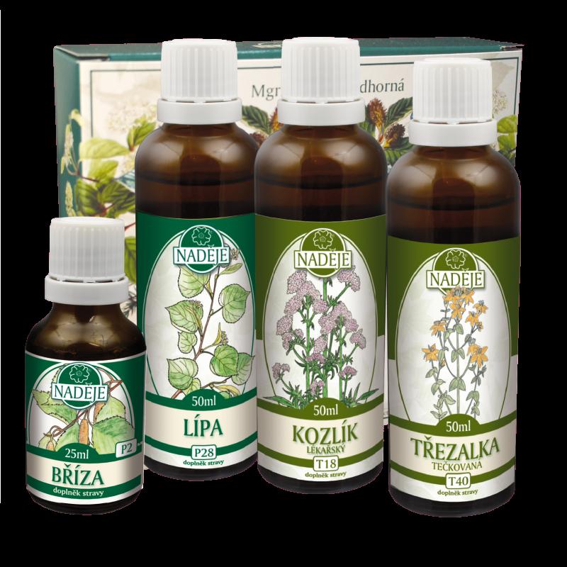 Doplněk z bylin ke zlepšení tělesné a duševní pohody a kvality spánku