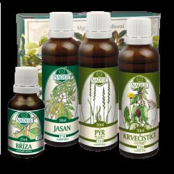 Doplněk z bylin jako pomoc při detoxikaci a regeneraci organismu