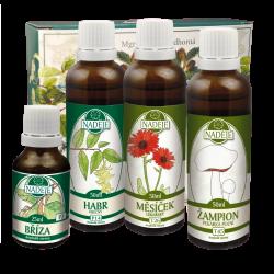 Doplněk z bylin ke zmírnění alergických projevů při dýchání (astmatu)