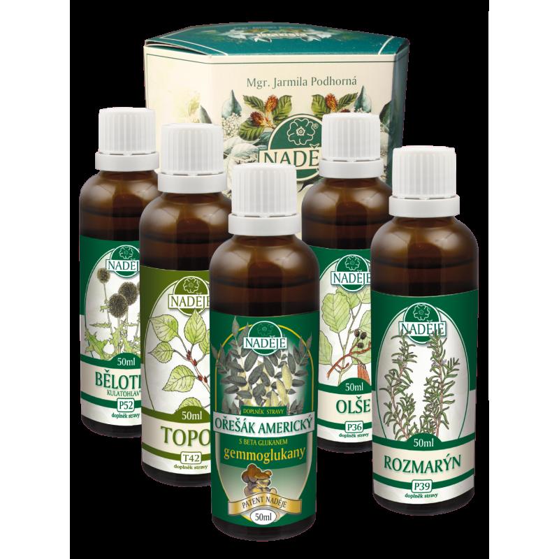 Doplněk z bylin jako pomoc při detoxikaci s protiparazitálními účinky