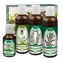Doplněk z bylin pro zdravou funkci střevního a zažívacího traktu