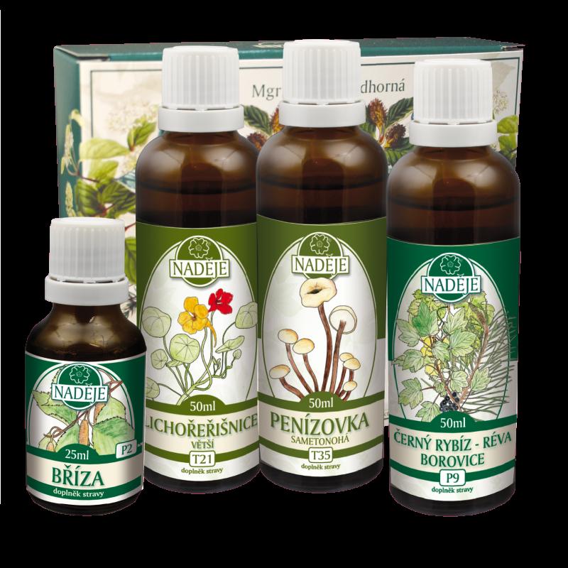 Doplněk z bylin pro zlepšení kvality pokožky