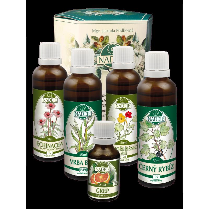 Doplněk z bylin pro podporu obranyschopnosti organismu