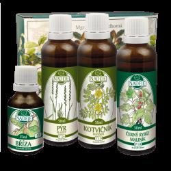 Doplněk z bylin pro regeneraci ženského organismu