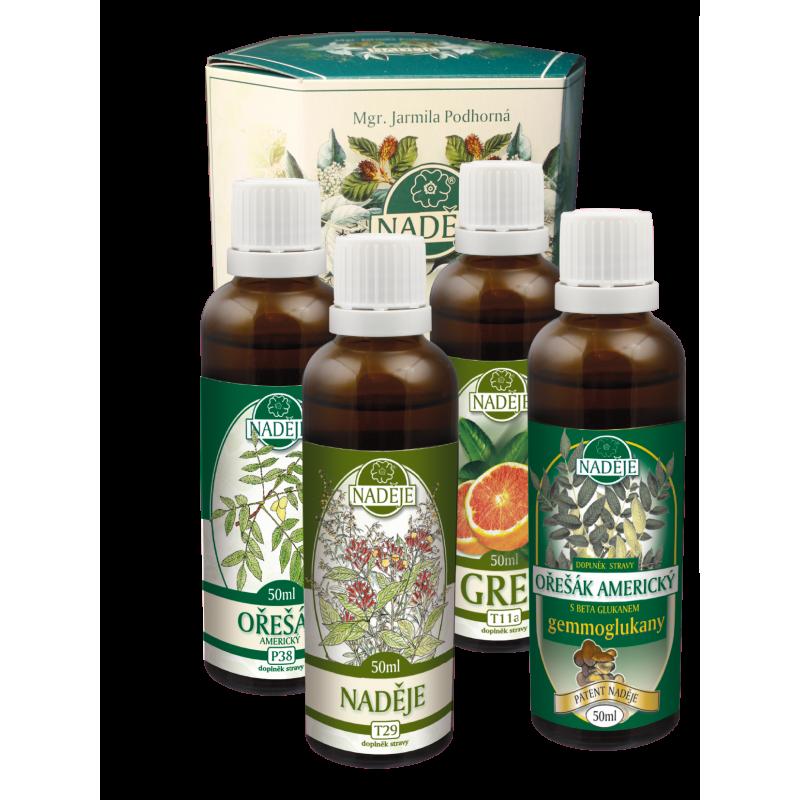 Doplněk z bylin pro podporu očisty organismu